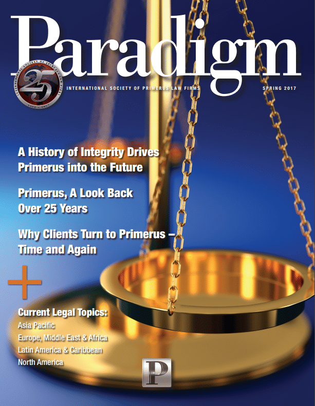The Sader Law Firm published an article for Primerus Paradigm magazine