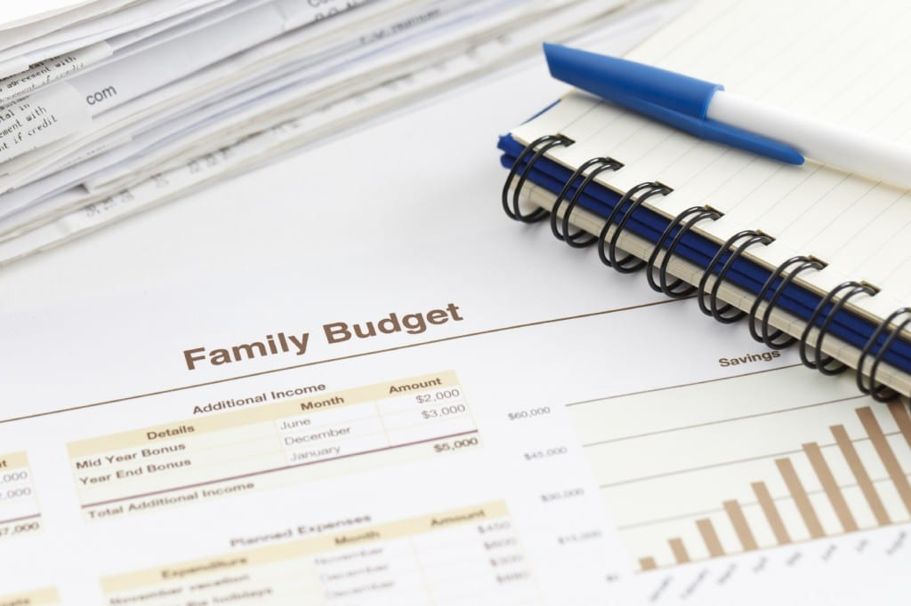 Photo of a family budget